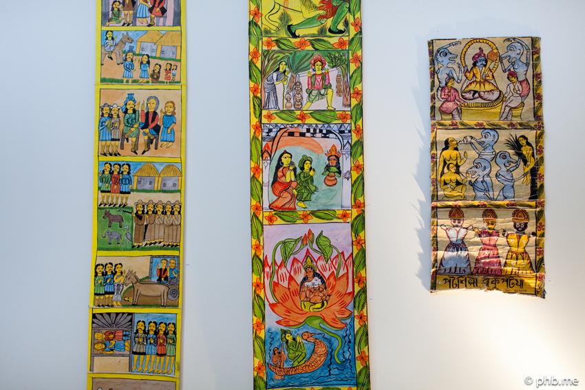 Galerie Blandine Roques : Patuas indiens - Photo © phb.me